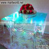 Latest acrylic table with LED Light,crystal acrylic table for wedding cake stands,acrylic wedding table decoration (TAB-001)                                                                         Quality Choice