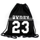 Factory direct! 2016 new customized DIY cotton bag drawstring college student shoulder bag