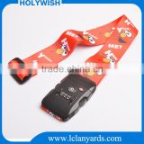 Custom 3 digit combination TSA lock luggage belt strap