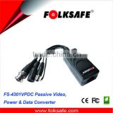 Folksafe wireless video power data balun bnc male to rj45 with converter cable