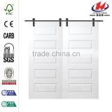 JHK-S08 China King Design Philippines House Barn Door Hardware Double Track Interior Door