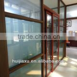 double glass office partitions wall ,glass top partition wall,office wall with sliding door