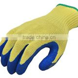 Cut Resistant 100-Percent Kevlar Gloves, Heavy Weight Textured Blue Latex Coated, Large, 1-Pair