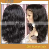 FREE SHIPPING Fast Delivery 100% Brazilian Remy virgin wig human hair Body wave #1B Full lace wigs Accpet custom order