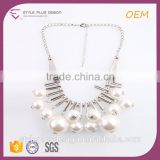 N74435K01 Handmade Airplane Big Ball Pendant Beats Jewelry Necklace Set From Pearl Updated Collection