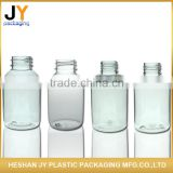 China manufacturer custom logo convenient transparent round portable plastic travel bottle