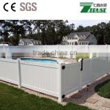 white pvc coated decorative privacy fence for sale