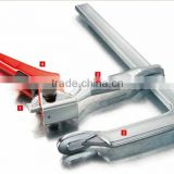 FECOM 400mm heavy duty stainless steel ratchet clamp for manufacturing automation and woodworking GH series