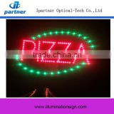 Super Bright Display Led Sign Pizza