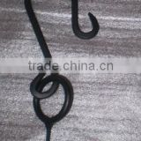 Black Forged Metal Curved Hanging Plant Bracket Hook, Wall Hanging Bracket, Hanging Bracket