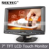 Small hdmi desktop display vga input mounting led pc touch standing 7 inch in dash car tv monitor