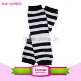 Hot Sale Knitting Legwarmers White and Black Striped Legwarmers For Kids