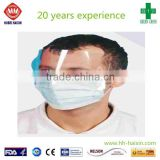 high quality disposable 3-ply surgical face mask with anti fog glass, anti-dust, anti-fog effectively