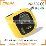 CE Approval Portable mini ultrasonic distance meter with water level, ultrasonic tape measure