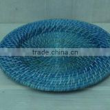 Rattan and bamboo wedding charger plates