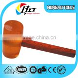 Transparent Rubber Mallet With Wooden Handle ball-peen hammer