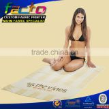 Hot selling product wholesale microfiber customized printed beach towel china factory