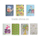 Cute night-owls series printing PU leather case, rotation stand case for ipad 3