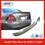 Fiber Glass Trunk Lip Spoiler 4Dr V Style + ROOF WINDOW SPORT Fit For B ENZ C W203