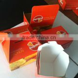environmental paper fried chicken box /fast food box /custom fast food packing box
