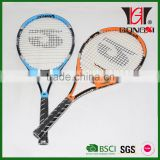 GT-623 good design aluminium &carbon tennis rackets with custom tennis racket grips and PU foam handle grips