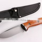 OEM 440 stainless steel outdoor camping knife with wood handle