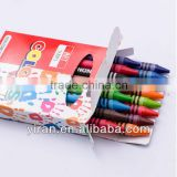 New Arrival 2015 Eco-Friendly Stationary Medium Wax Crayons Set with Color Box