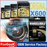 Original Professional 600X Speed SD Card 64GB Class10 UHS-3 SDXC Memory Card 32 128 256 GB micro for IP CCTV Camera 4K Video