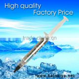 Silver High thermal conductivity liquid silicone grease/compound HY700 series Syringes for CPU