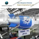 Inflatable helium specialty tethered blimp for advertising / Blue air float /dirigible