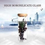 high borosilicate handmade glass storage air tight food container jar for 1200ml