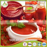 wholesale double concentrated canned tin gino 28-30% tomato paste pasta factory supplier exporter