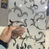 decorative titanium frosted bathroom window glass types