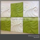 Custom thermoformed ABS 3d decor wall board