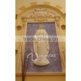 wall mounted stone carving religious decoration relief frame for mary