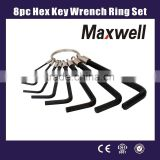 8pc Hex Key Wrench Ring Set