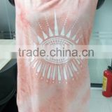 multi color T-Shirts tie dye fashion print girl vest tank tops short crop top for summer
