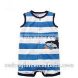 2016 new fashion design carters Babies Costume stripe animal Printing Baby Girl Clothes Rompers from Guangzhou OEM manufaturers