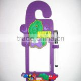 3D soft pvc cartoon door hanger
