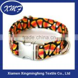 fashion durable dog collars with metal buckle