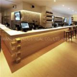 Good L Shape Design Wood Bar Counters With Solid Surface Water Proof Bar Counters