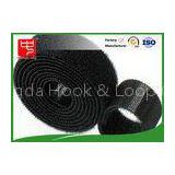Black hook and loop tape strong gripping power double sided hook and loop roll Water resistance