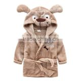Comfortable Baby Bathrobe Cute Animal Cartoon Babies Blanket Kids Hooded Bathrobe Toddler Baby Bath Towel
