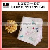 hot sale new design ladies hand embroidery handkerchief