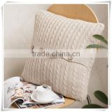 Good style cotton small office hold the twist knitting buttons cushions wool knit pillowcases