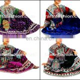 Gypsy Afghani Tassel dress- Handmade Balochi Tribal Ethnic Dress - kuchi Indian traditional With Tassel