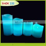 Wedding decoration flameless blue led candles