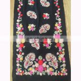 20170933 new fashion acrylic embroidery shawl design cashmere imitation embroidery scarf