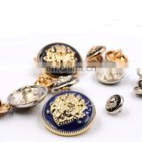 Brand Metal Gold Black Color Coat Sweater Garment Accessories Material Sewing Metal Button