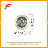 special pattern zamak metal sewing button with enamel for caot